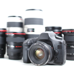 Modern hi-end professional photographic equipment